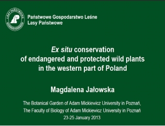 Ex situ conservation of plants. Problems and solutions.
